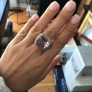 David Yurman Lavender Amethyst Ring, 17mm, size 7